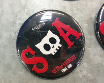 SOA Sons of Anarchy. pinback button 2.16 in