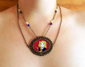 Hypodermic Sally - American Horror Story. Necklace. Cameo.