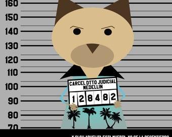 Pablo Escobar. sticker 3.9 x 3.9 in