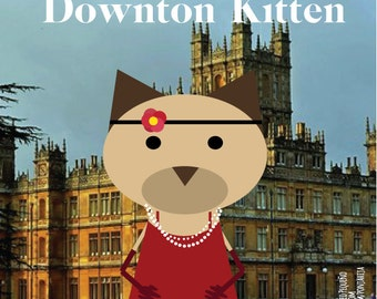 Downton Abbey. sticker 3.9 x 3.9 in
