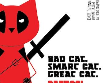 Deadpool. sticker 3.9 x 3.9 in