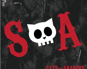 Sons of Anarchy SOA. sticker 3.9 x 3.9 in