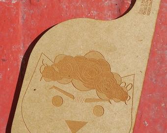 """Frida Kahlo. hanger for door. wood. 10.62"""" x 4.72"""""""