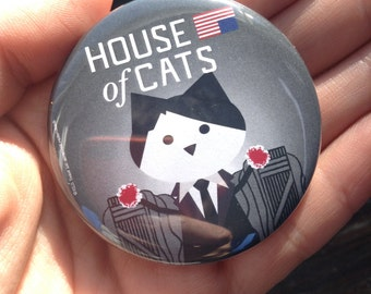 House of Cards, pinback button 2.16 in