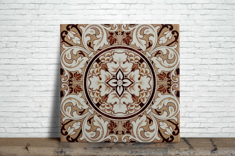 . Victorian Reproduction decorative fireplace Ceramic wall tile 4 25 X 4 25  or 6 x 6 Inches  20