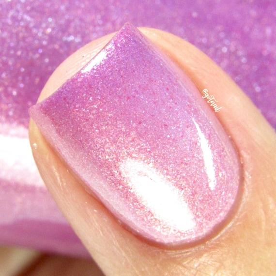 Pink Nail Polish Color Changing Thermal Mood Polish Take | Etsy