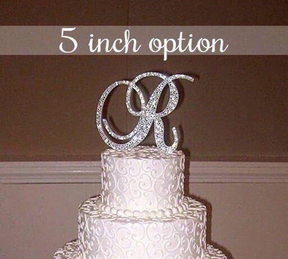 Bling Wedding Cake Topper Crystal Sparkle Rhinestone   Etsy