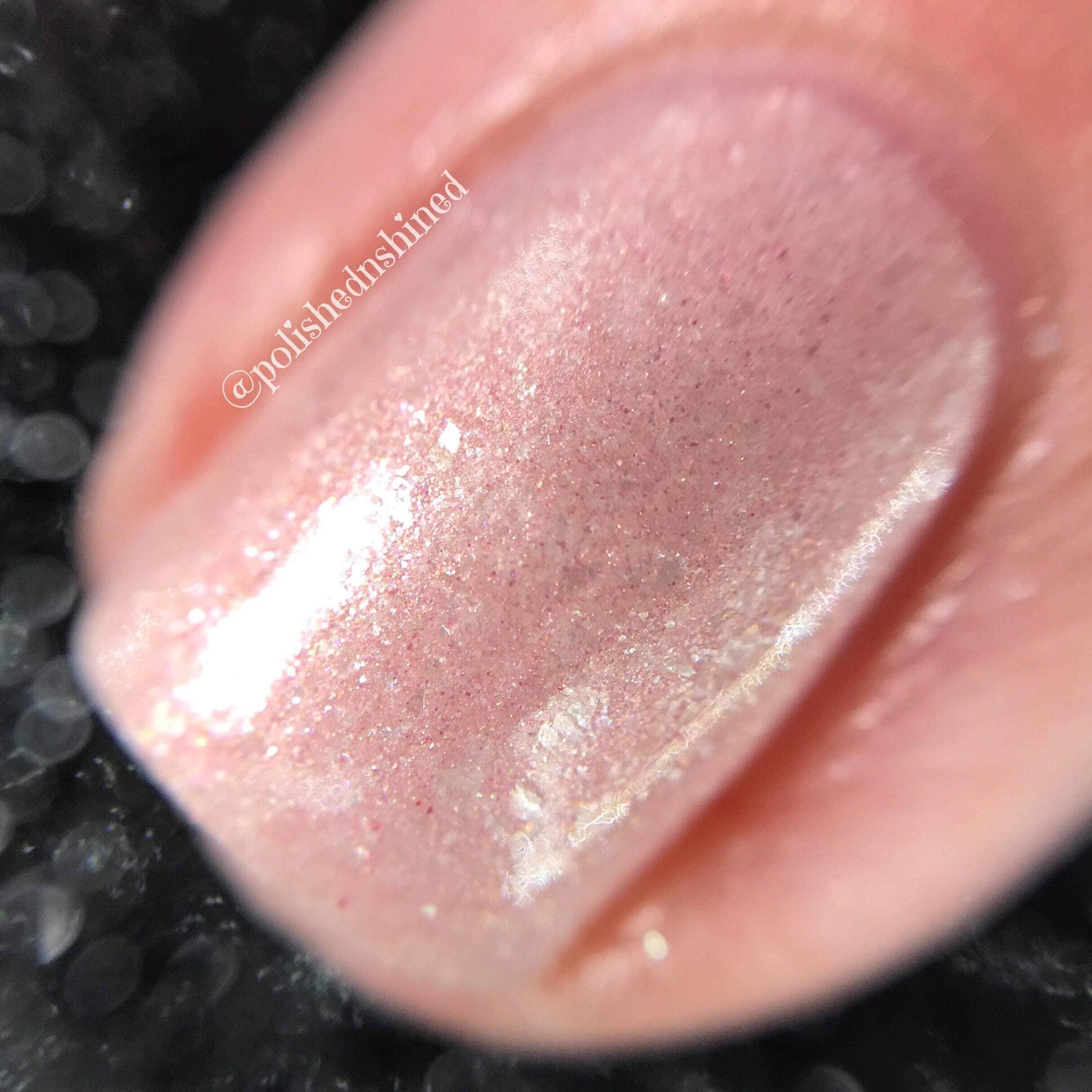 Blush Pink Shimmer Nail Polish Bridal Wedding Nail Polish | Etsy