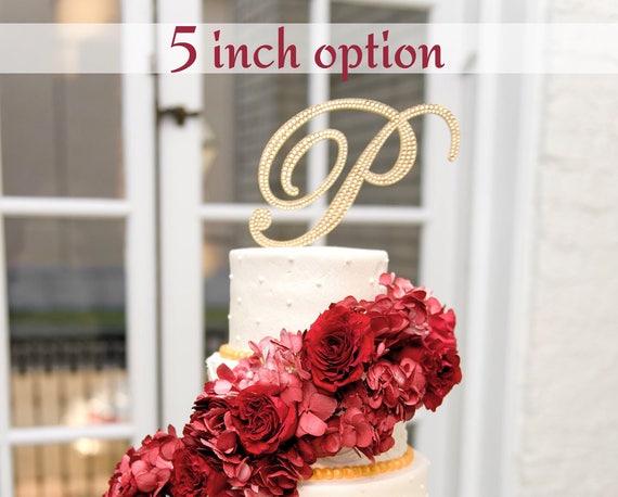 Bling Wedding Cake Topper Color Crystal Rhinestone Monogram   Etsy