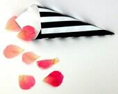BLACK & WHITE Stripe Cone...