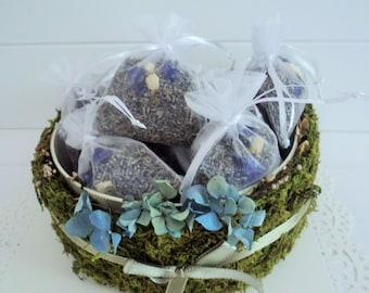 WEDDING LAVENDER Favors - set of 10, fragrant wedding confetti or Lavender sachets, for fairy tale endings