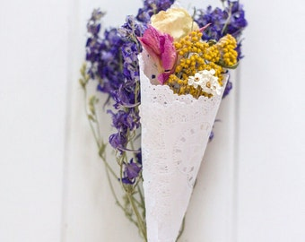 WILDFLOWER PETAL CONES - ecofriendly WildflowerFetti™ and wedding cones, dried flowers, petal toss, flower confetti, for fairy tale endings