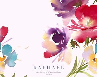 Watercolor Clipart - Watercolor Floral Clipart - Flower Clipart - Floral arrangement - Wedding Clipart - Digital Download - PNG - Raphael