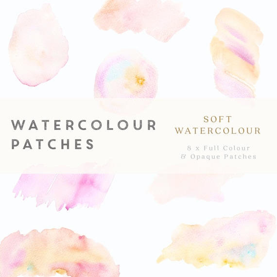 photo regarding Printable Patches identified as Watercolour Patches - Smooth Watercolour - Structure Instrument - printable, professional employ the service of