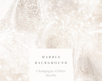 """Glitter Champagne Marble   White Gold Glitter Background Digital Paper   12"""" x 12"""" Printable   Free Commercial Use   Create the Cut"""