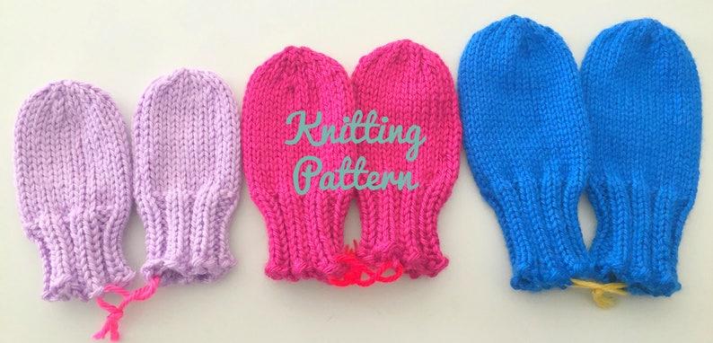 Baby Mittens Knitting Pattern  Toddler Mittens Pattern  image 0