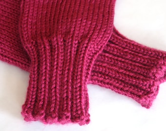 Fuchsia Mittens for Kids - optional connecting cord