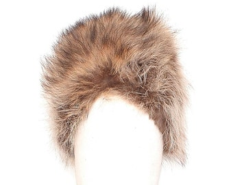 60s Fur Hat - Real Fur Beehive Hat - Coyote Fur Mid Century Winter Hat - 1960s Fur Hat