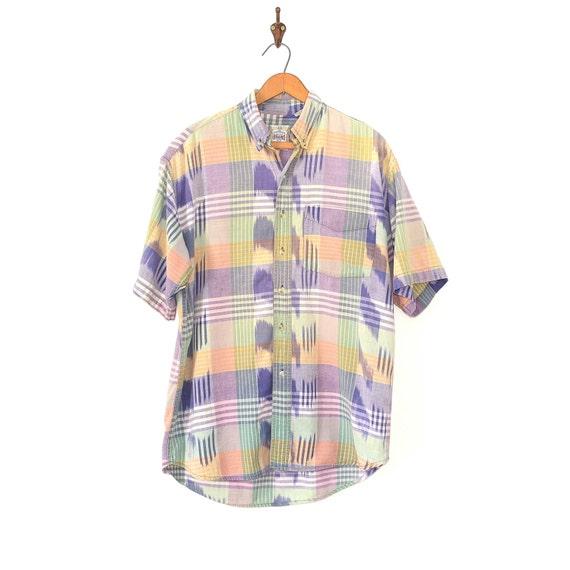 Madras Plaid Shirt - Madras Preppy East Coast Plai