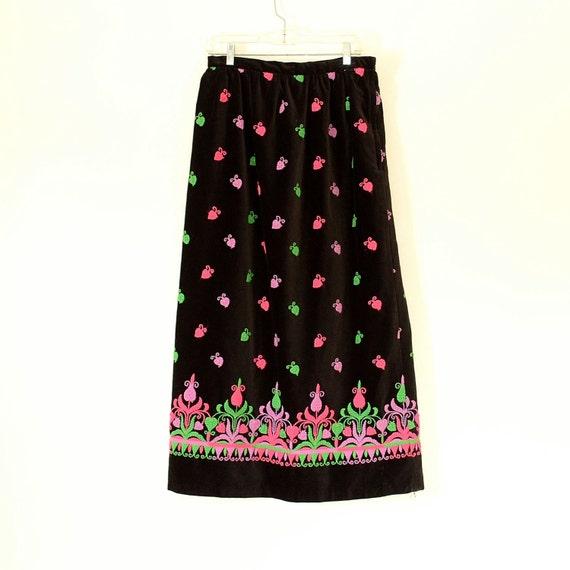 Vintage Velvet Maxi Skirt - Velvet Abercombie and