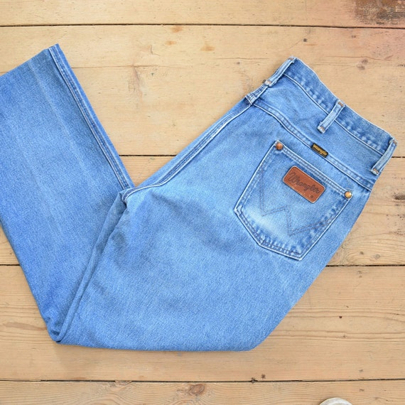 Jeans Wrangler Vintage Anos 80 Jeans De Novio Se Etsy