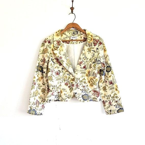 Tapestry Blazer - Brocade Blazer - Vintage 90s Cro