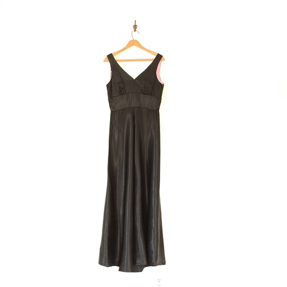 947adb1a82d9 One Piece Jumpsuit 60s Vintage Black Satin Witchy Goth