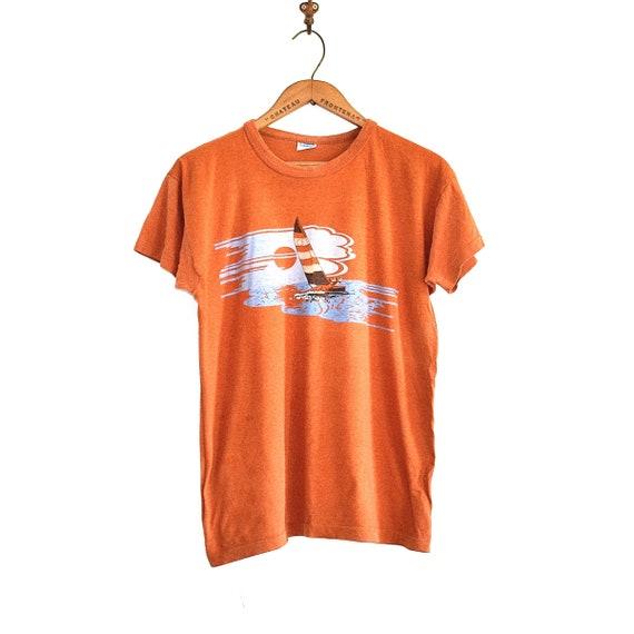 80s Paper Thin Champion T Shirt - Wind Surfing Vin