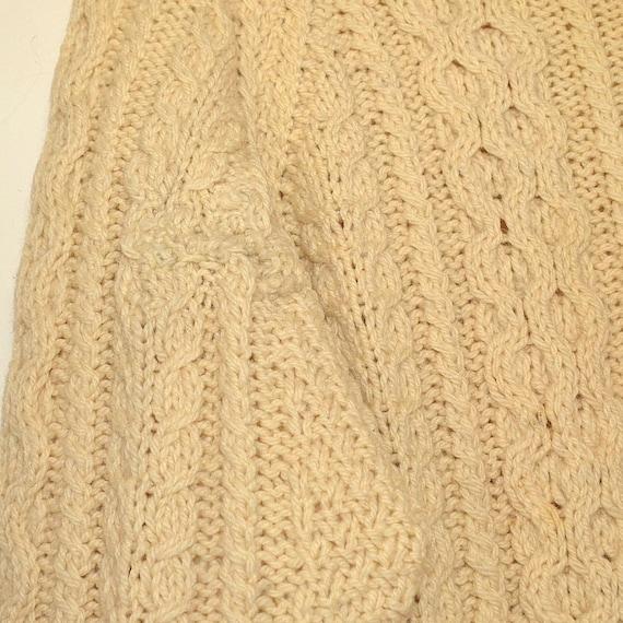 Vintage Fishermans Sweater - 50's Womens Aran Kni… - image 5