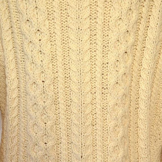Vintage Fishermans Sweater - 50's Womens Aran Kni… - image 3