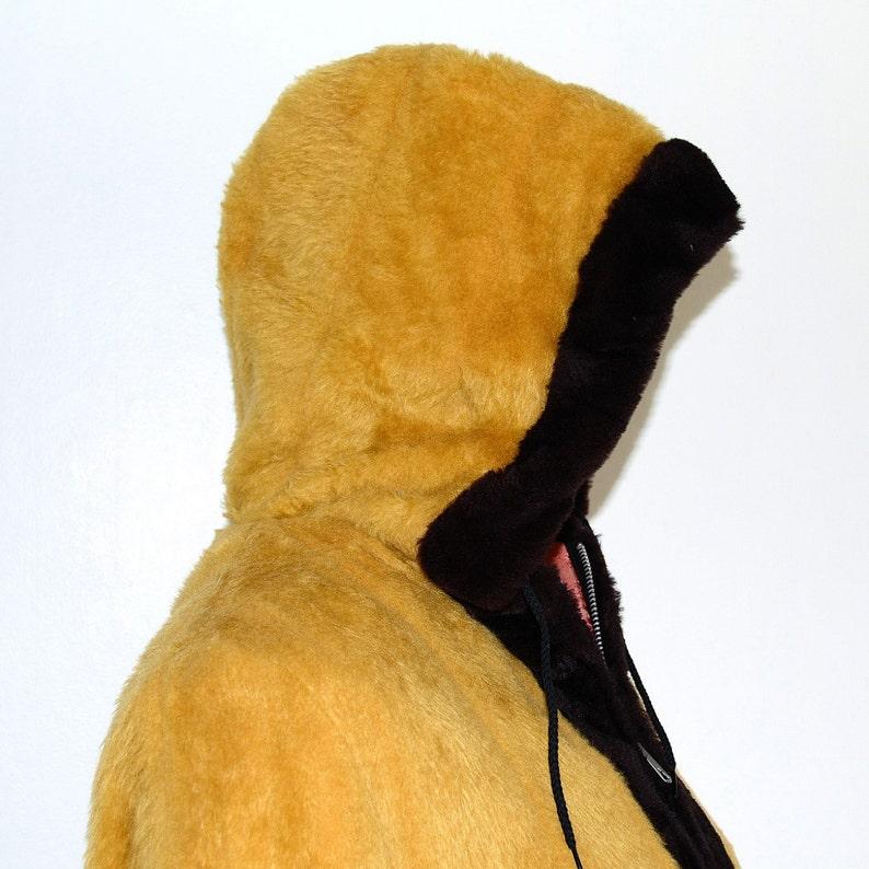 Abrigo peluche amarillo