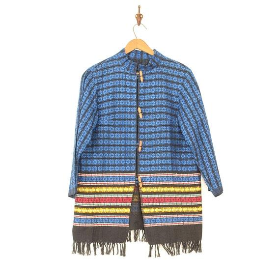 Mexican Jacket - Vintage 50s/60s Woven Coat - Folk