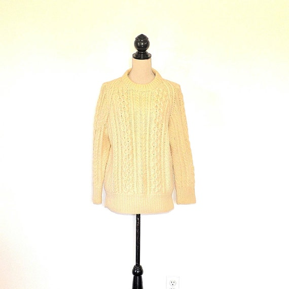 Vintage Fishermans Sweater - 50's Womens Aran Knit