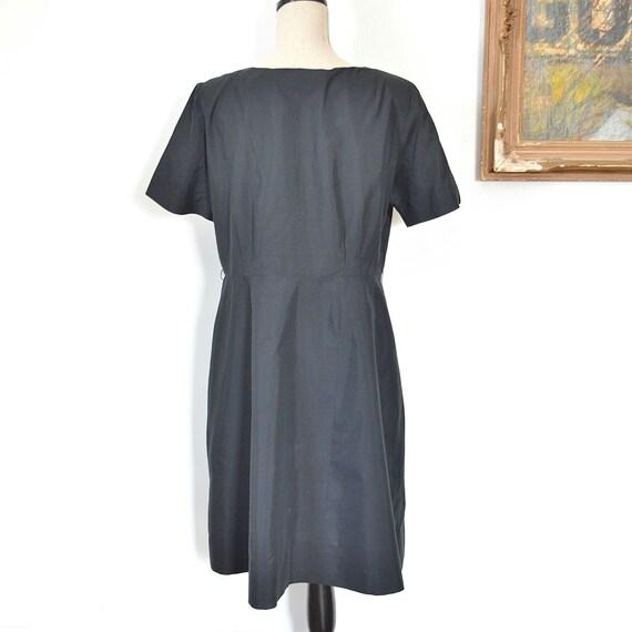 1930's Black Dress - Early 30's Little Black Dres… - image 5