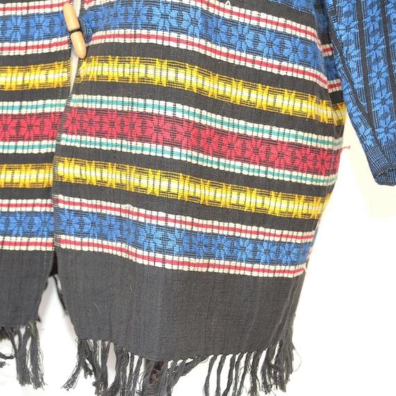 Mexican Jacket - Vintage 50s/60s Woven Coat - Fol… - image 4