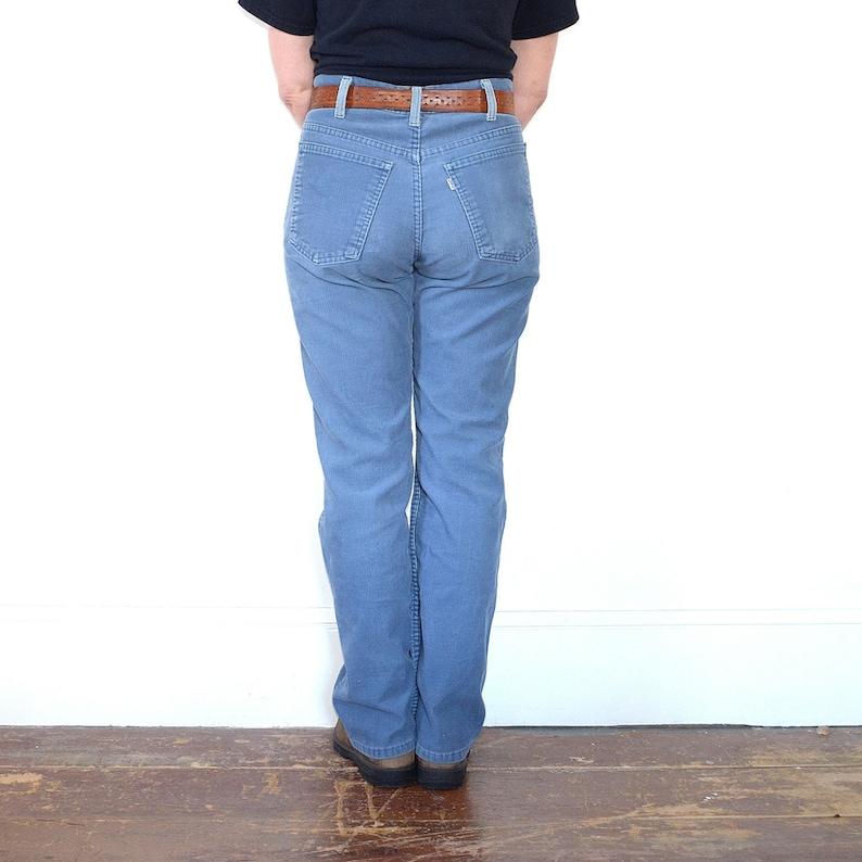 Levi Cords Powder Blue 70s Strauss Corduroy Pants