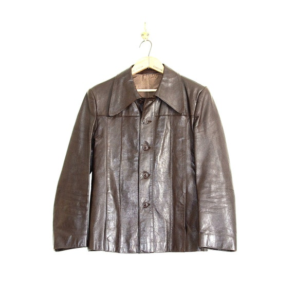 70ER LEDERJACKE HIPPIE Boho Vintage 70s Leather Jacket Gr.38