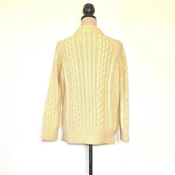 Vintage Fishermans Sweater - 50's Womens Aran Kni… - image 4