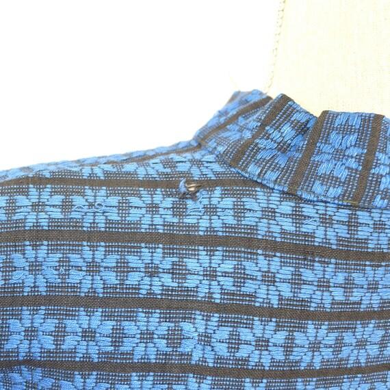 Mexican Jacket - Vintage 50s/60s Woven Coat - Fol… - image 5