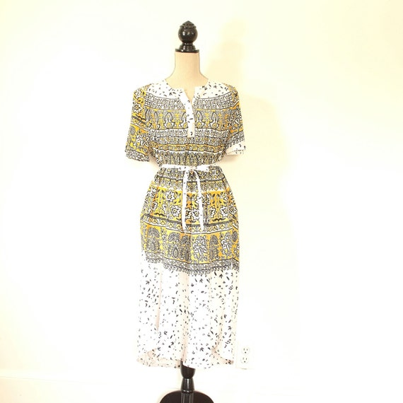 Caftan Dress - Block Printed Boho KaftanTunic Dres