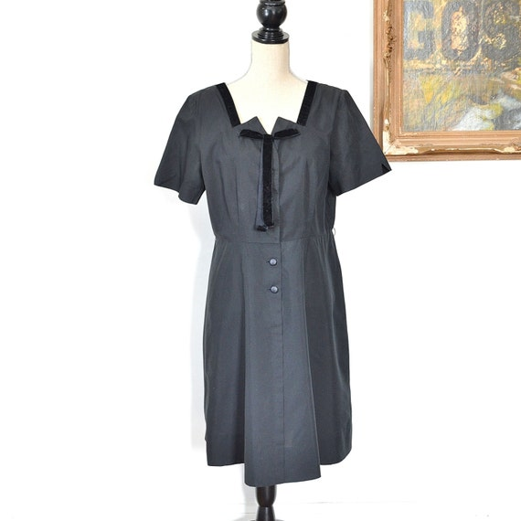 1930's Black Dress - Early 30's Little Black Dress