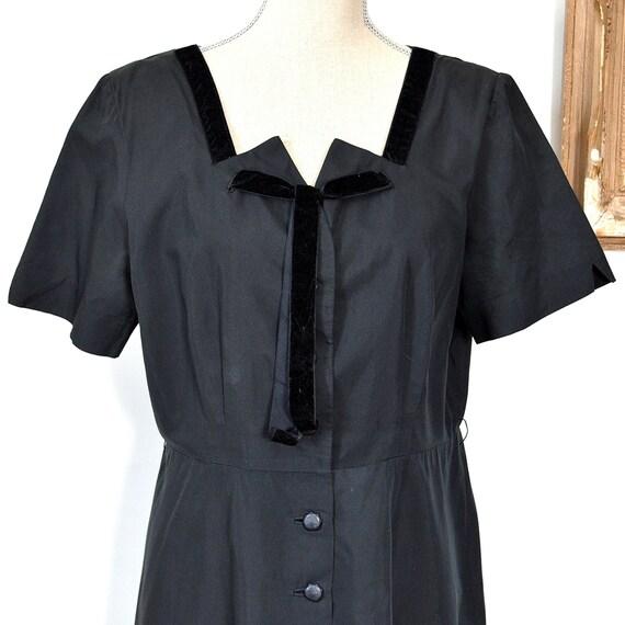 1930's Black Dress - Early 30's Little Black Dres… - image 2