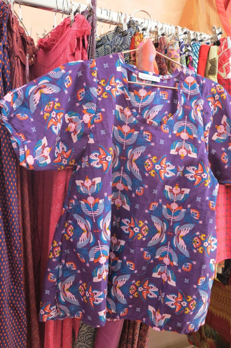 SM Chanty tunic blouse in cotton veil Bride T