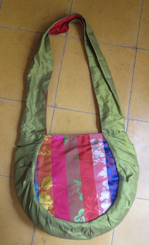 805668717d11 DESTOCKAGRE  Bag Rasmeymade of silk from Cambodia and