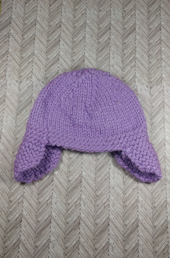 3-6 month old purple aviator winter hat bulky 3-6 month old  4c341f93847