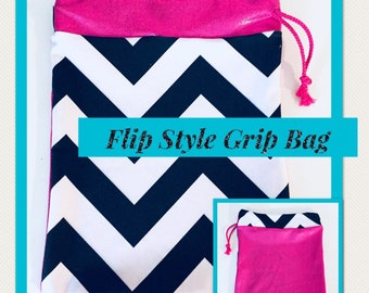 Gymnastics Grip Bag - B&W Chevron Print