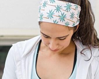 Headwear Sketch Peacocks Sweatband Elastic Turban Sport Headband Outdoor Head Wrap