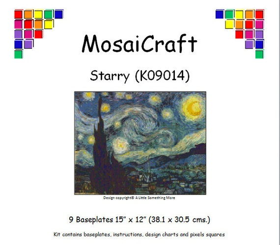 MosaiCraft Pixel Craft Mosaic Art Kit /'Flower Series A/' Pixelhobby