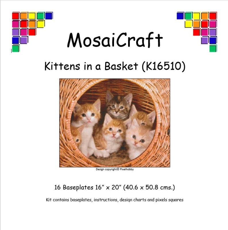 Mosaicraft pixel Craft MOSAICO Art Kit /'Kitten/' pixelhobby