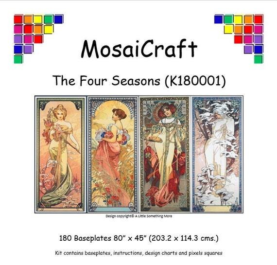 MosaiCraft Pixel Craft Mosaic Kit /'Reverie/' Art Nouveau Pixelhobby